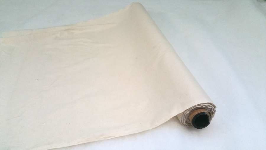 Calico fabric, unbleached